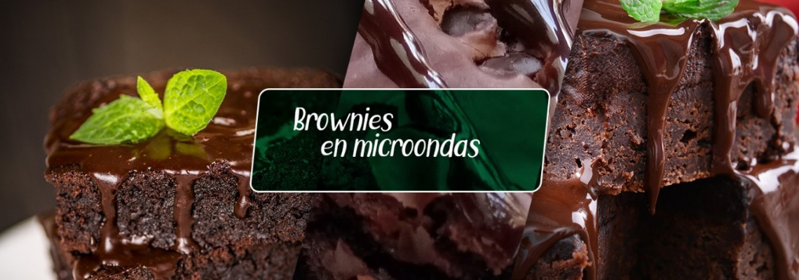 Brownies en microondas