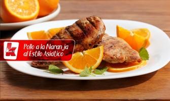 Pollo a la naranja al estilo asiático