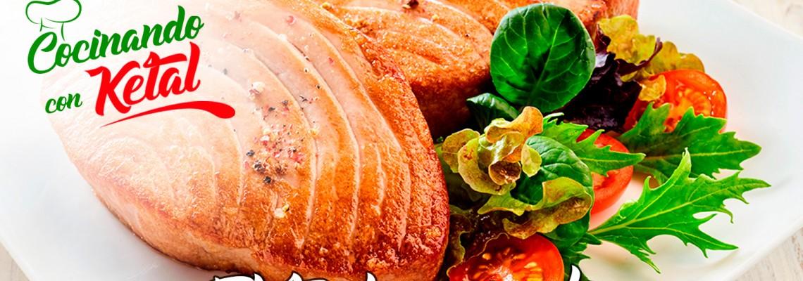 Filete de pescado estilo mediterráneo