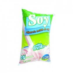 Leche  Soale De Soya Frutilla 1 Lt.