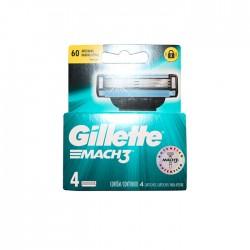 Afeitadora Gillette Mach3 4 Pzas