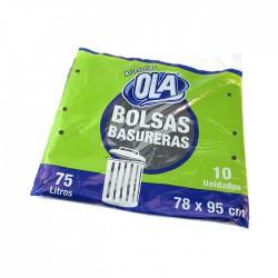 Bolsa Ola P/Basura 78X95Cm 75Lt 10Unpaq