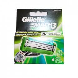 Afeitadora Gillette Mach3 Sens 4Pzs