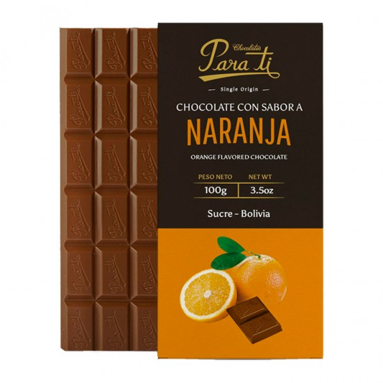 Chocolat Para Ti Tablet Sab.Naranja 100G
