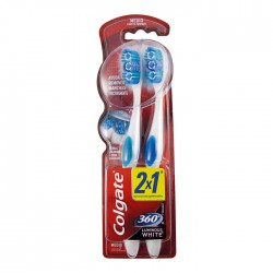 Cepillo Dental Colgate Lum/White Med 2X1