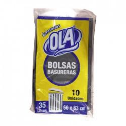 Bolsa Ola P/Basura 60X63Cm 35Lt 10Un
