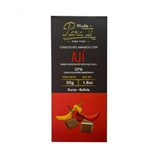 Tab Chocolate Para Ti Amargo C/Aji 50Gr