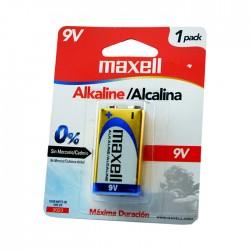 Bateria Maxell Alcalin 9V 1Pak 721110/50
