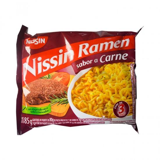 Sopa Inst  Nissin Carne Sobre 85Gr