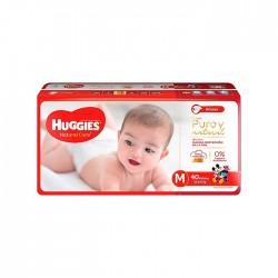 Panal Nat Care Huggies M 2X58 Cotton