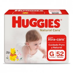 Panal Nat Care Huggies G 2X52 Cotton