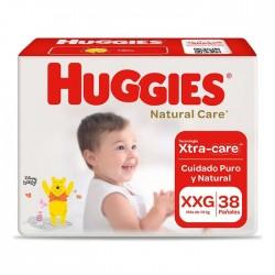 Panal Nat Care Huggies Xxg 2X38 Cotton