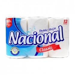 Papel Hig Nacional Clasico Celeste  12Un