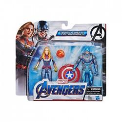 Avengers Hasbro Cap+Cap Marvel E5078