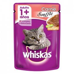 Comida Whiskas Adulto Souffle Carne 85Gr
