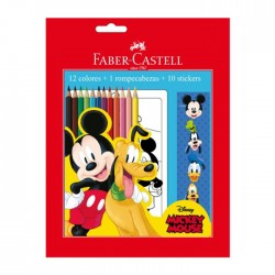 Ecolapices Faber Mickey 12C +Puzzle+Stic
