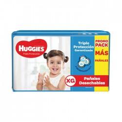 Panal Huggies Triple Protección Xg 2X52