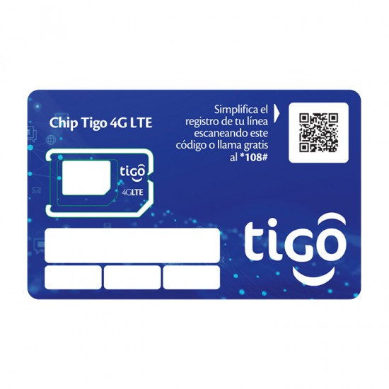 Chip 4G Lte Tigo Un