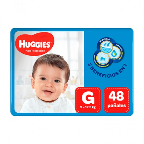 Panal Huggies Triple Protec G X48