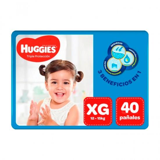 Panal Huggies Triple Protec Xg X40