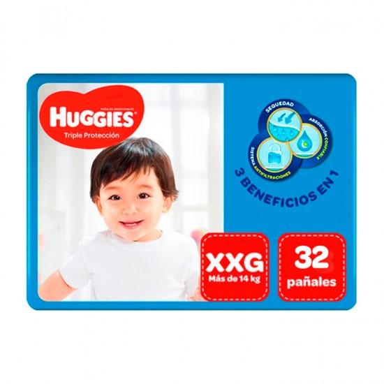 Panal Huggies Triple Protec Xxg X36