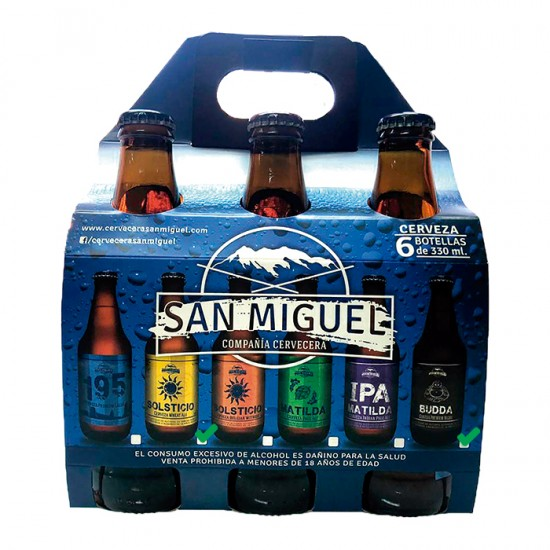 6 Pack San Miguel Prem.Lager Y Wheat.Ale